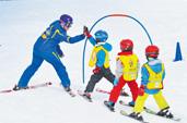 Kinderskikurse Minis - 4 Jahre - Ganztagesprogramm